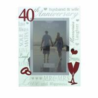40th Ruby Wedding Anniversary Photo Frame New Boxed WG60740