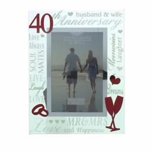 40th Ruby Wedding Anniversary Photo Frame New Boxed WG60740