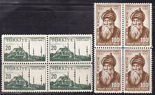 1957 Turkey 400th Ann of Suleymaniye Mosque Architect Mimar Sinan Block Four MNH
