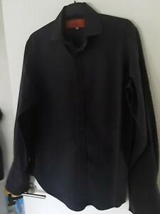 Mens Designer By Ozwald Boateng Dark Slate Gray 15inch Collered 38C Shirt...Exce