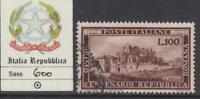 ITALY Repubblica - 1949 REPUBBLICA ROMANA  cv 200$  Sassone 600 used
