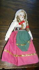 Vintage Schneider Folklore Swedish Girl Porcelain Doll Excellent Shape