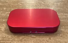WHEATLEY TRADITIONAL STYLE ALUMINIUM FLY BOX 10 WINDOWED COMPARTMENTS RED