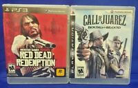 Red Dead Redemption + Juarez Bound Blood Game Lot PS3 Sony Playstation 3 Tested
