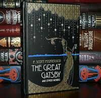 NEW Great Gatsby Other Works Scott Fitzgerald Leather Bound Gilt Edge Hardcover