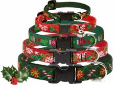 Lupine Dog Collars CHRISTMAS Holiday - With FREE Matching Key Ring - Made in USA