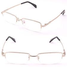 4cd710cad1 Media montura para hombres y mujeres de Memoria Titanio Gafas marco  transiciones de prescripción de Plata