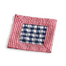 BRAND NEW FRONTGATE KIM SEYBERT GINGHAM COCKTAIL NAPKINS SET OF 6 RED AND BLUE