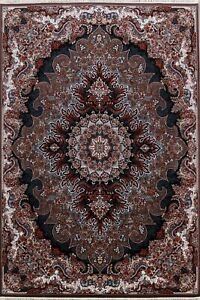 Traditional Floral Turkish Oriental Area Rug For Living Room Brown Carpet 8x12