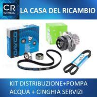 KIT DISTRIBUZIONE +POMPA +CINGHIA SERVIZI FIAT BRAVO II 1.6 Mtj 105 120 CV