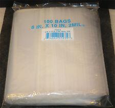 "8""X10"" 2 MIL Poly Clear Ziploc Zipper Ziplock Bags - 100 ea"