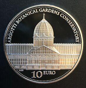 Malta - Silver 10 Euro Coin - 'Argotti Botanical Gardens' - 2017 - Proof