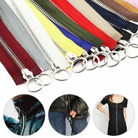 1pc 5# 70/90cm Metal Zipper Double Slider Zip For DIY Sewing Garment Accessories
