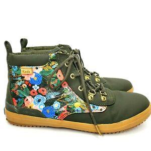Keds x Rifle Paper Co. Women's Size 3M Scout Garden Party Floral Lace Up Boots