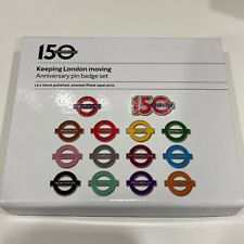 More details for london underground 150th anniversary pin badge set enamel filled tube lines
