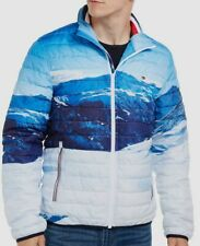 $298 Tommy Hilfiger Men Blue Insulated Puffer Packable...