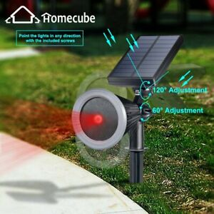 HOMECUBE Waterproof Solar Laser Light Outdoor Garden Party Xmas Projector Lamp