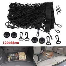 Car Suv Rear Trunk Boot Floor Cargo Net Elastic Mesh Storage Fixed Set Kit Black (Fits: 2010 Charger)