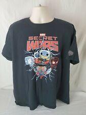 Funko Pop Tees Marvel Secret Wars Men's 2XL T-Shirt Black Collector Corps