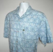 Mens The North Face Button Front Shirt Medium blue diamond pattern cotton
