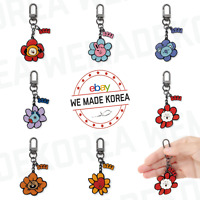 BT21 Character Flower Metal Keyring Keychain 7types Official K-POP Authentic MD