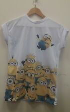 Dispicable Me White Minion Tee Size 6 T-Shirt Top <J7769