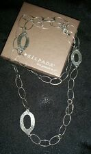 """Silpada .925 brushed sterling silver oval link necklace 35"""" long"""