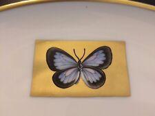 Herend Ungarn Teller handbemalt Schmetterling Butterfly Goldrand Hermitage 27 cm