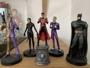 Batman Two Face Joker Catwomen Red Robin DC Eaglemoss Chess Piece Figure Bundle