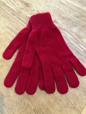 BNWT Mens Designer Paul Smith Soft 95% Cashmere Red knitted gloves RRP £65