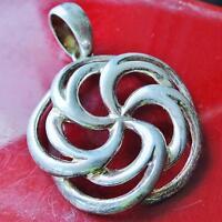 Milor 925 Sterling silver pendant Italian swirl charm vintage 6.6gr