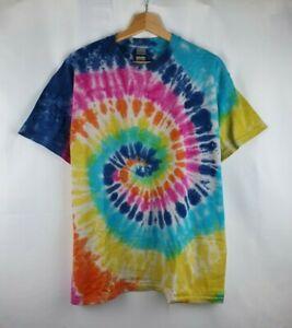 Rainbow Spiral TIE DYE T-SHIRT Hand Dyed tiedye New Unisex Kids Festival Tee 08