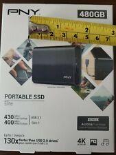 PNY Portable SSD Elite 480GB USB 3.1 Brand New Sealed!!
