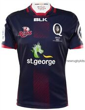 BNWT Queensland Reds Super 15 Rugby Navy 2016 Shirt (L,Large Mens) Jersey