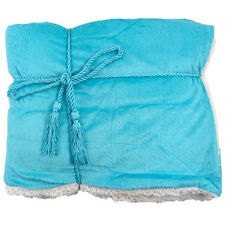 """Super Soft and Cozy Lambswool Microsherpa Bed Sofa Throw Blanket 50"""" x 60"""""""