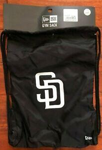 New Era San Diego Padres Black/White Gym Sack Book Bag  MLB Brand New SD