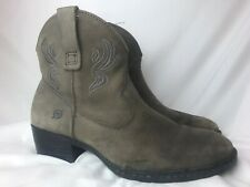 Born Western Ankle Boots Womens 9 Gray  Cowboy Cowgirl