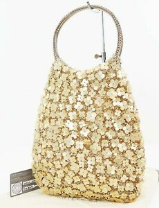 Authentic ANTEPRIMA Gold Wire Tote Hand Bag Purse #34784