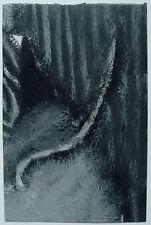 Piccolo Olio su Carta Espressionista Astratto RENé AUDEBES 1977 Quadro #4