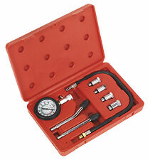 SEALEY Car/Motorcycle Petrol Engine Compression Tester Test Tool Gauge Kit CT955