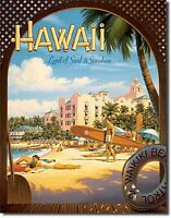 Hawaii Surf & Sunshine Groß Metallschild 410mm x 315mm (DE)