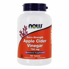 Now Foods Extra Strength Apple Cider Vinegar 750 mg 180 Tablets Free Ship