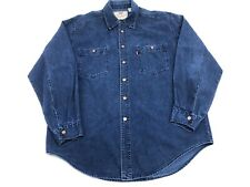 Vintage Levi's Denim Button Up Shirt Long Sleeve Copper Buttons