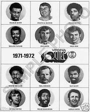 1971-72 VIRGINIA SQUIRES JULIUS DR J ERVING 8x10 TEAM PHOTO