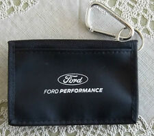 NEW FORD PERFORMANCE WALLET WITH CARABINER CLEAR ID SLOT ZIPPER POCKET!