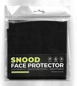Black Snood Face Protector (Buy 1, 2 Or 3) - Washable & Reusable