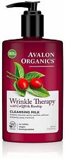 Avalon Organics Wrinkle Therapy CoQ10 - Rosehip Cleansing Milk, 8.50 oz
