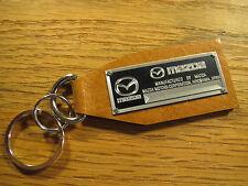 Mazda Data Plate Leather Keychain RX7 RX8 MX-5 Miata RX3 RX4 MX6 MX5 5 6 Rotary