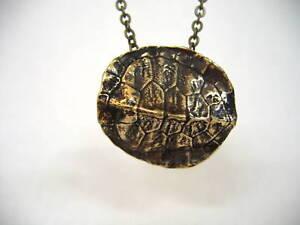 3D Bronze Turtle Shell Pendant Necklace Tortoise Wildlife Animal Pond 119