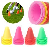 10 Pcs Skate Marker Cones Roller Football Soccer Training Marking Cup Barrier